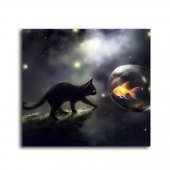Kedi Ve Baloncukta Balık Tablo