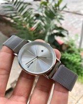 Hasır Kordonlu Gümüş Trend Saat