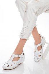 Tarçın Hakiki Deri Comfort Günlük Kadın Sandalet Ayakkabı Trc75 0925