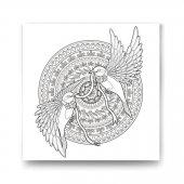 Kuşlar Desenli Mandala Tablo