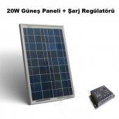 Argenç 20w Güneş Enerjili Elektrikli Çit Paneli