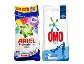 Omo Active Toz Deterjan 10 Kg + Ariel Parlak Renkler 10kg