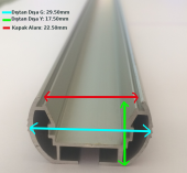 150cm Alüminyum Profil-3