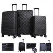 BvLX Trendy ABS Dayanıklı 3lü Valiz Seti Farklı Renkli
