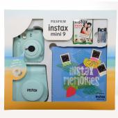 Fujıfılm Instax Mini 9 Box Scrapbook Buz Mavisi Kutulu Kit