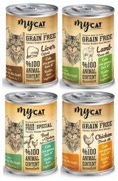 Mycat Tahılsız Kedi Konservesi, Karışık, 4lü Paket