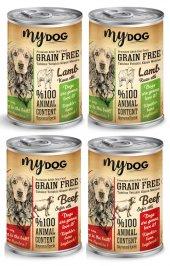 Mydog Tahılsız Köpek Konservesi, Karışık, 4lü Paket