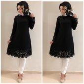 Bayan Lazer Tunik K10 Siyah Renk