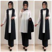 Bayan Yelek Pantolon Takım K10 Siyah Renk