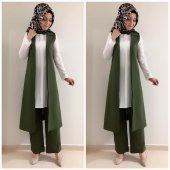 Bayan Yelek Pantolon Takım K10 Yeşil Renk