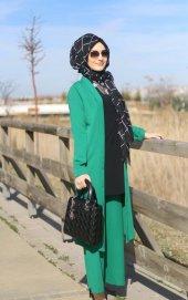 Deryam 9002 Bayan Ceket Pantolon Takım K20 Yeşil R...