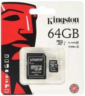 Kingston Canvas 64 Gb Class 10 Hd Video 80mb S...