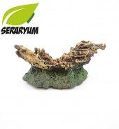 Mini Akvaryum Dekoru (Batık Gemi)