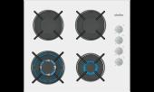 Simfer 3509 Wok Gözlü Beyaz Cam Ankastre Ocak