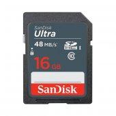 Sandısk Ultra 16 Gb 320x Class 10 Uhs I Sdhc Hafıza Kartı (48mb S