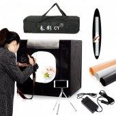 ışıklı Ürün Çekim Çadırı 40x40cm Pro Ledli Katlanabilir Çadır