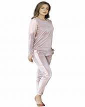 Fc Fantasy Pembe Kadife Örüncek Dantel Pijama Takım 1078P