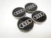 Audi Siyah 57mm Çelik Jant Göbek Kapağı