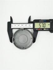 Skoda Siyah 57mm Çelik Jant Göbek Kapağı-2