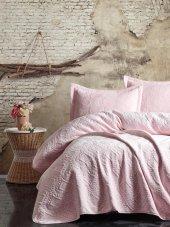 Cotton Box Soft Tek Kişilik Yatak Örtüsü Seti Pembe