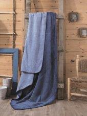 Cotton Box Çift Kişilik Pamuklu Battaniye Mavi Mavi