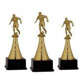 Futbol Figürlü Ödül Kupası F35 Metal Kupa Set 31 Cm Baskılı