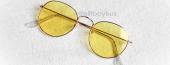 Trent Beyaz Çerçeve- Sarı Gözlük