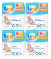 Uni Baby Wipes Islak Mendil 56lı Havlu Kapaklı 20 Adet 1120 Yap.