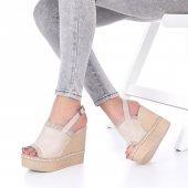 Levenia Dolgu Topuklu Ayakkabı Süet-3