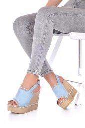 Levenia Dolgu Topuklu Ayakkabı Süet-11