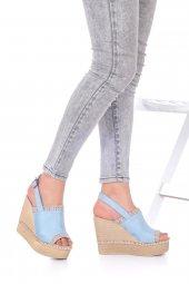 Levenia Dolgu Topuklu Ayakkabı Süet-12