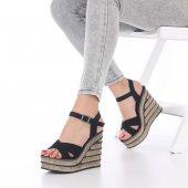 Seti Dolgu Topuklu Ayakkabı Süet-9