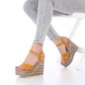 Seti Dolgu Topuklu Ayakkabı Süet-11