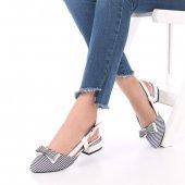 Marcia Topuklu Ayakkabı Keten
