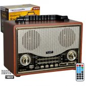Technomax Nostaljik Radyo Bluetooth Usb Sd Giris Tm 6619