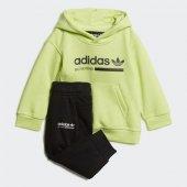 Adidas Kaval Hood Set Bebek Giyim Eşofman Takımı Dw9189 (Beden 6 9 Ay)