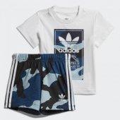 Adidas Camo Tee Set Bebek Giyim Eşofman Takımı Dw3843 (Beden 6 9 Ay)