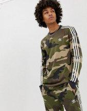 Adidas Camo Ls Tee Erkek Giyim Tişört Dv2055 (Beden Xs)