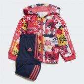 Adidas I Shıny Fz Hd J Bebek Giyim Eşofman Takımı Ed1140 (Beden 2 3 Yaş)