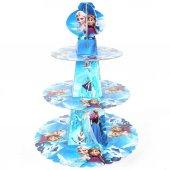 Elsa Frozen Karlar Ülkesi Kek Standı, Cupcake Stand 19x27x32 CM
