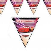 Cars Üçgen Bayrak Flama 2.2 Metre Doğum Günü...