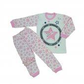 Kız Bebek Yıldız Modelli Pijama Takımı 4 6 Yaş Pembe C66748 14