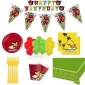 8 Kişilik Angry Birds Doğum Günü Konsepti Bardak Çatal Balon Seti-2