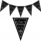 1 Adet Siyah Happy Birthday Yetişkin 1.9m Parti...