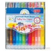 12 Renk Uzun Çevirmeli Mum Boya Fantasia