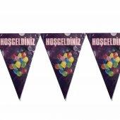 1 Adet Hoşgeldiniz Yazılı Bayrak Flama Doğum...