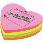 Faber Yapışkanlı Not Kağıdı 70x70mm Kalp