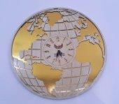 Dünya Haritalı Duvar Saati