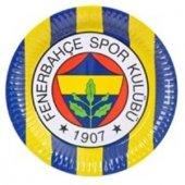 Fenerbahçe 8li Tabak Doğum Günü Parti Tabağı 23cm Ucuz Sarı Lacivert-2