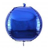 Koyu Mavi Lacivert Küre Şekilli Folyo Balon Helyumla Uçan